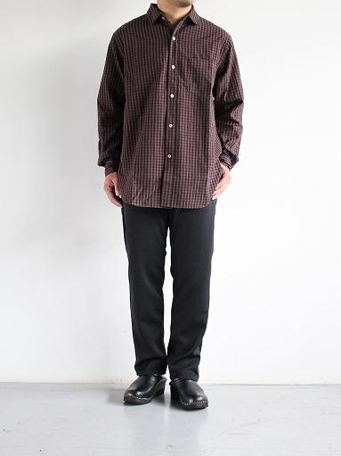 blurhms Polish Chambray Shirt / GMCH-Brown_b0139281_15365662.jpg