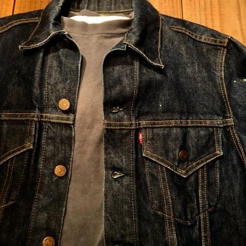 """1967-68 \"""" LEVI\'S \"""" BIG-E - 70505 MODEL - Vintage DENIM TRUCKER JKT - リジットコンディション - ._d0172088_15382982.jpg"""
