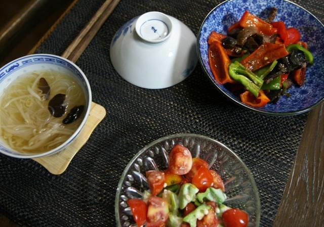 家庭菜園の野菜を使った 夏の「今夜の夕飯」_f0229190_14274482.jpg