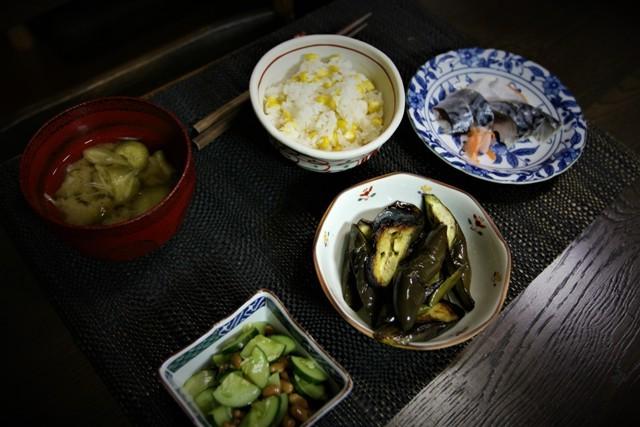 家庭菜園の野菜を使った 夏の「今夜の夕飯」_f0229190_14321726.jpg