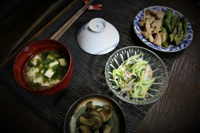 家庭菜園の野菜を使った 夏の「今夜の夕飯」_f0229190_15181731.jpg