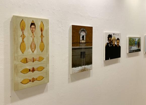 画家でありアートジャーナリスト、80年代から大活躍の村田真先生の個展!_d0358704_21183255.jpg