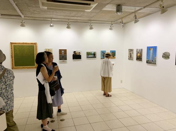 画家でありアートジャーナリスト、80年代から大活躍の村田真先生の個展!_d0358704_21184353.jpg