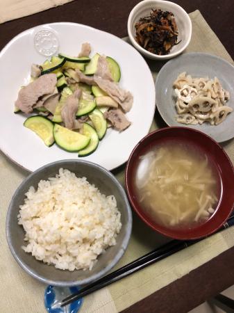 豚肉とズッキーニの炒め物_d0235108_20033481.jpg