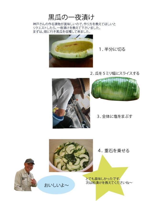 黑瓜の一夜漬け_e0314330_13491314.jpg