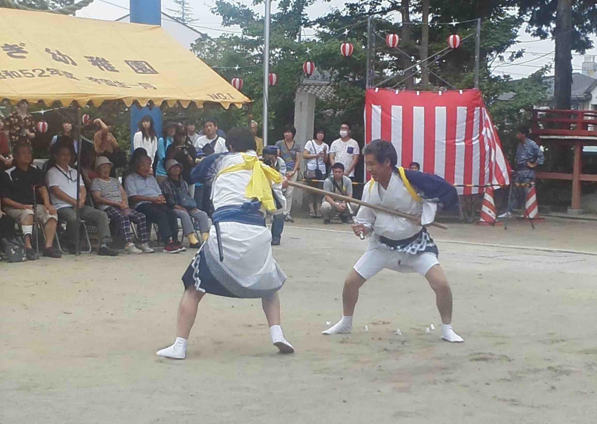 泉地区市民体育祭、小名浜諏訪神社夏祭の棒ささら_e0068696_74702.jpg