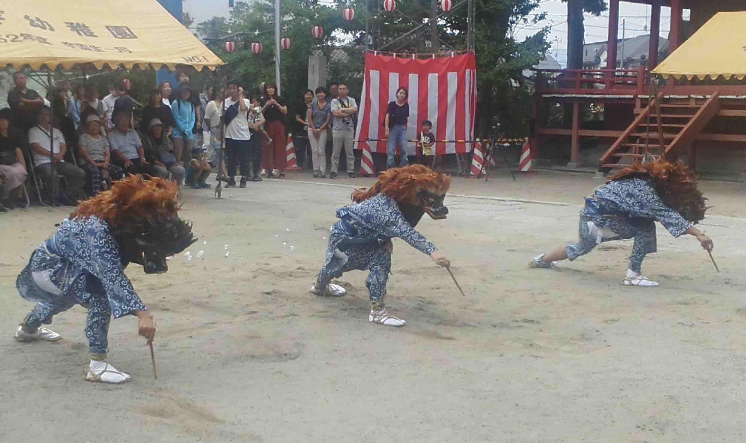 泉地区市民体育祭、小名浜諏訪神社夏祭の棒ささら_e0068696_748251.jpg