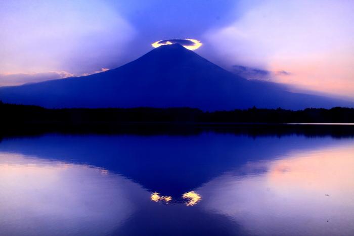 令和元年8月の富士(29)田貫湖の逆さ富士_e0344396_20590897.jpg