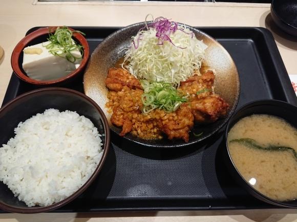 9/2 油淋鶏定食 with 冷奴 @松のやル・シーニュ府中店_b0042308_01361867.jpg