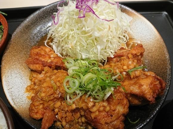 9/2 油淋鶏定食 with 冷奴 @松のやル・シーニュ府中店_b0042308_01363266.jpg