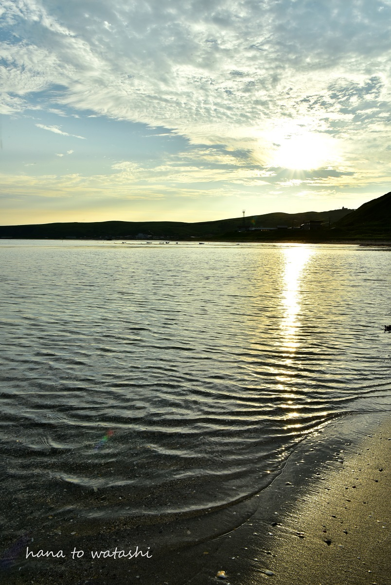 浜辺からの朝日_e0120026_23272743.jpg