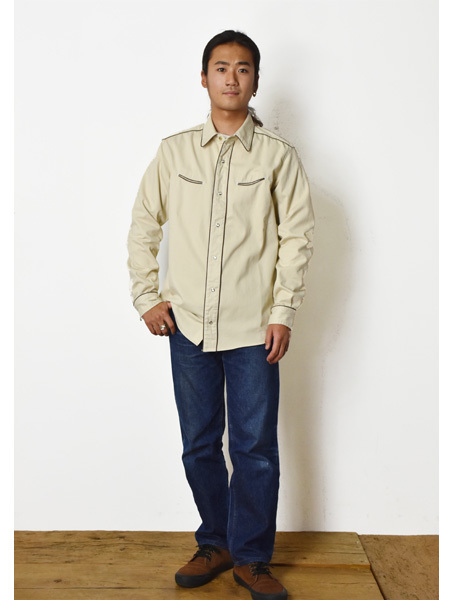 【DELIVERY】 STANDARD CALIFORNIA - Trimmed Western Shirt_a0076701_13595464.jpg