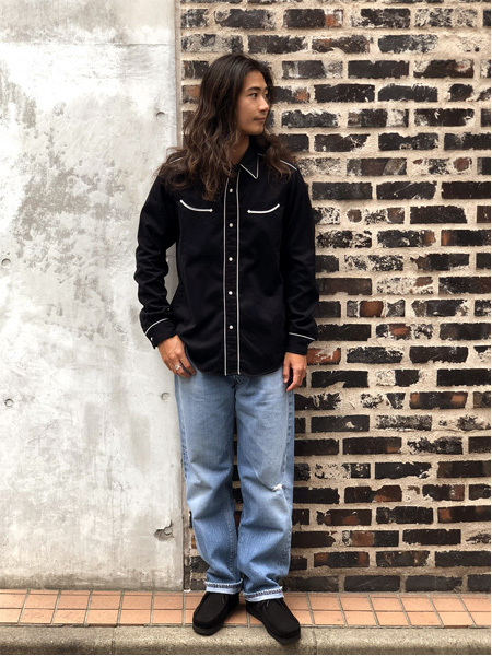 【DELIVERY】 STANDARD CALIFORNIA - Trimmed Western Shirt_a0076701_14000802.jpg