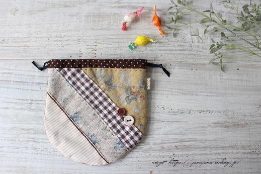 『キルトジャパン10月号』手縫いで作る小さくて可愛い丸巾着&楽天セール♪_f0023333_20490635.jpg