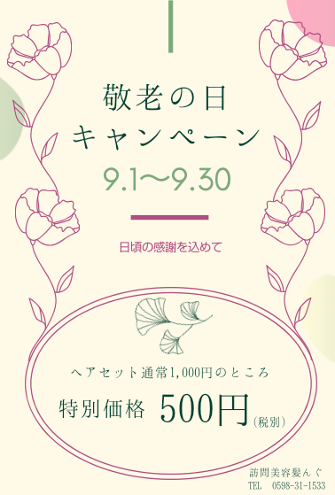 敬老の日キャンペーン実施中☆美容師によるヘアセットがワンコイン¥500!_f0277245_16351338.png
