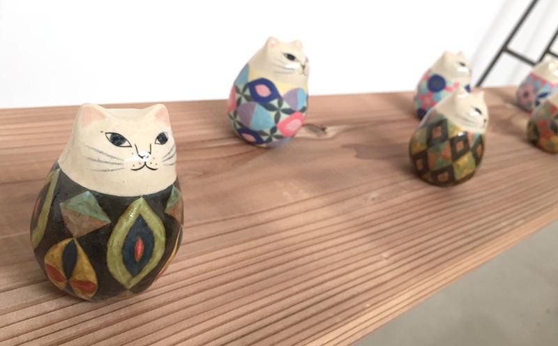 【ヤマイチアツコ陶猫展〜猫鏡】〜私と猫と鈴の音と_a0017350_05253646.jpg