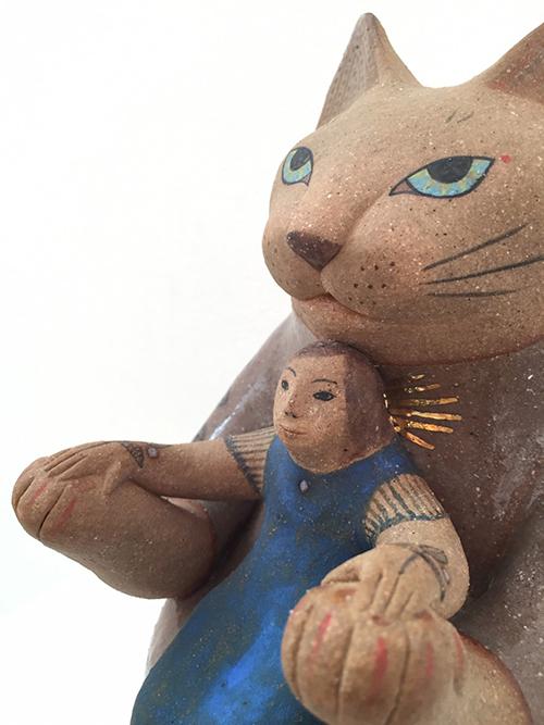 【ヤマイチアツコ陶猫展〜猫鏡】〜私と猫と鈴の音と_a0017350_05253657.jpg