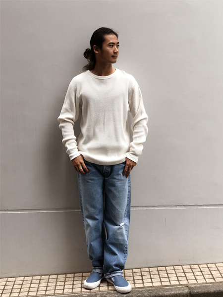 【DELIVERY】 STANDARD CALIFORNIA - Waffle Thermal Long Sleeve T_a0076701_12534864.jpg