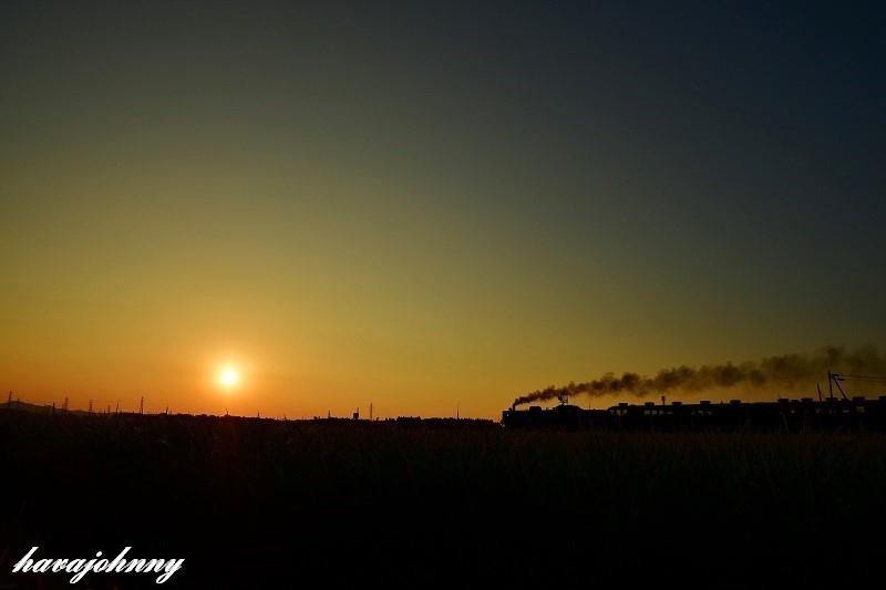 夕陽と汽車がある風景_c0173762_19202578.jpg