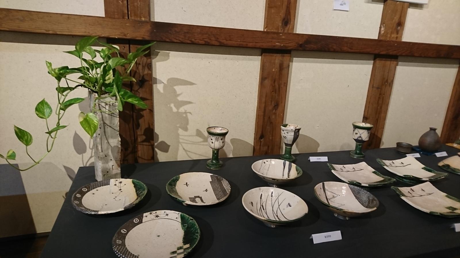 蔵織は今日から奥村進さんの作陶展。_e0046190_17160667.jpg