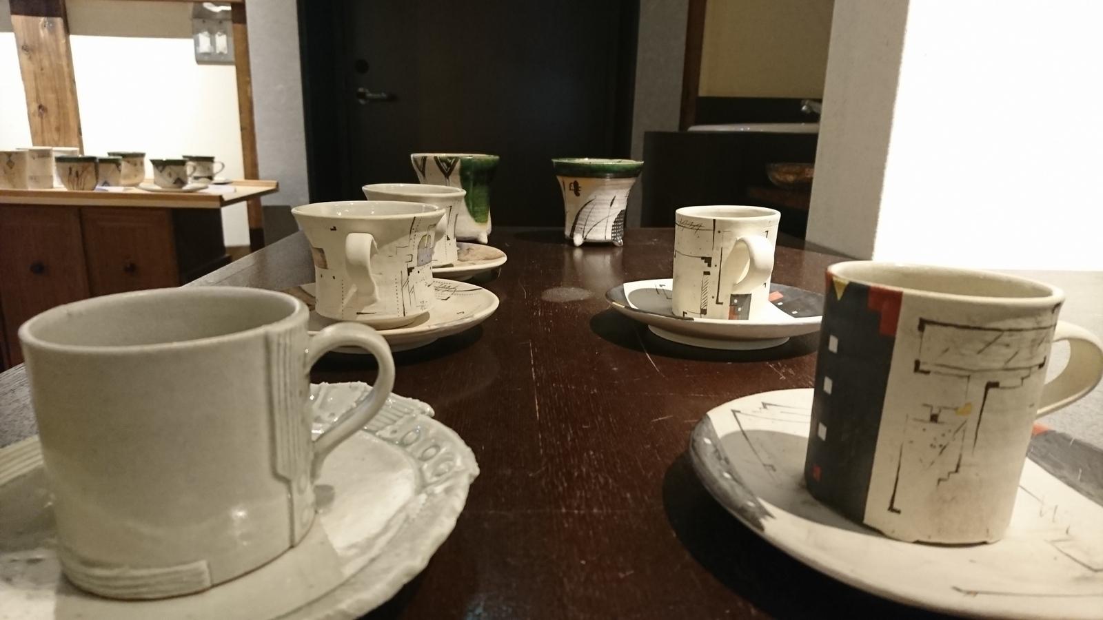 蔵織は今日から奥村進さんの作陶展。_e0046190_17165418.jpg