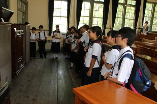 福島市立清水中学校1年生、17名様が重文本館を見学_c0075701_14264937.jpg