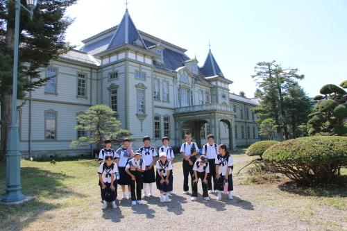 福島市立清水中学校1年生、17名様が重文本館を見学_c0075701_14281284.jpg