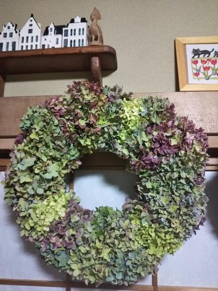 紫陽花リース作り_f0316507_16204324.jpg