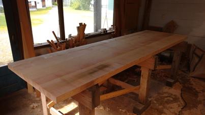 3m×90cm テーブル 製作その3_a0061599_04034487.jpg