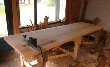 3m×90cm テーブル 製作その3_a0061599_04035500.jpg