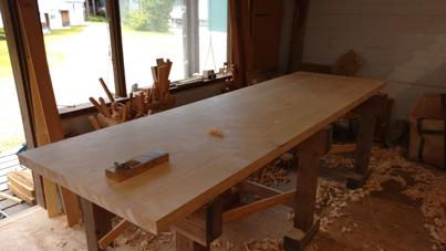3m×90cm テーブル 製作その3_a0061599_04040870.jpg