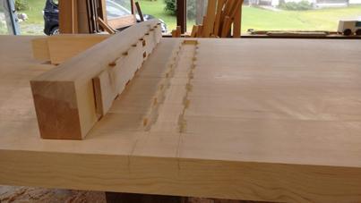 3m×90cm テーブル 製作その3_a0061599_04041824.jpg