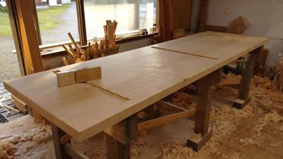 3m×90cm テーブル 製作その3_a0061599_04043046.jpg