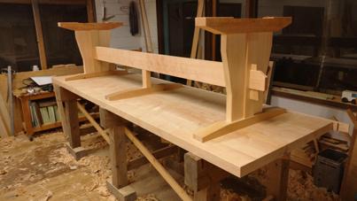 3m×90cm テーブル 製作その3_a0061599_04045267.jpg