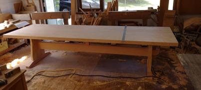 3m×90cm テーブル 製作その4 完成_a0061599_22205617.jpg