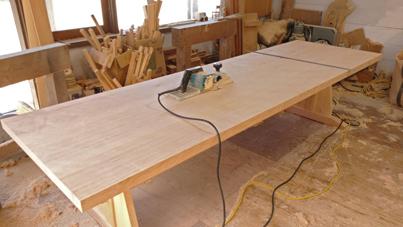 3m×90cm テーブル 製作その4 完成_a0061599_22210752.jpg