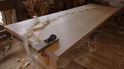 3m×90cm テーブル 製作その4 完成_a0061599_22213466.jpg