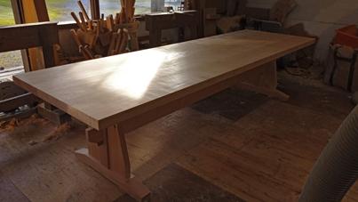 3m×90cm テーブル 製作その4 完成_a0061599_22214800.jpg