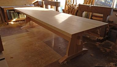 3m×90cm テーブル 製作その4 完成_a0061599_22220539.jpg