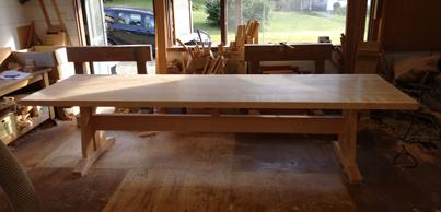 3m×90cm テーブル 製作その4 完成_a0061599_22221307.jpg