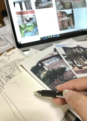 神戸の建築「風見鶏の館」「ラインの館」を入れたスペインタイルオーダーのデザインを考えています。_f0149716_13164328.jpeg