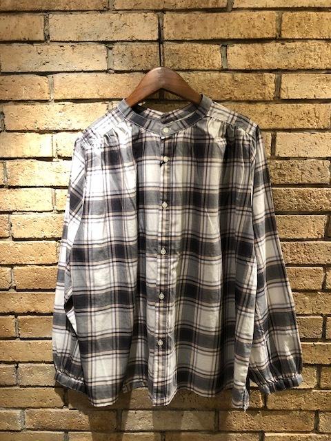 GRANDMA MAMA DAUGHTER  2way check GatherShirt&tuck frill shirt_a0222424_19572255.jpg