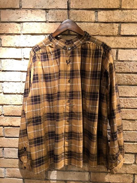 GRANDMA MAMA DAUGHTER  2way check GatherShirt&tuck frill shirt_a0222424_19572937.jpg