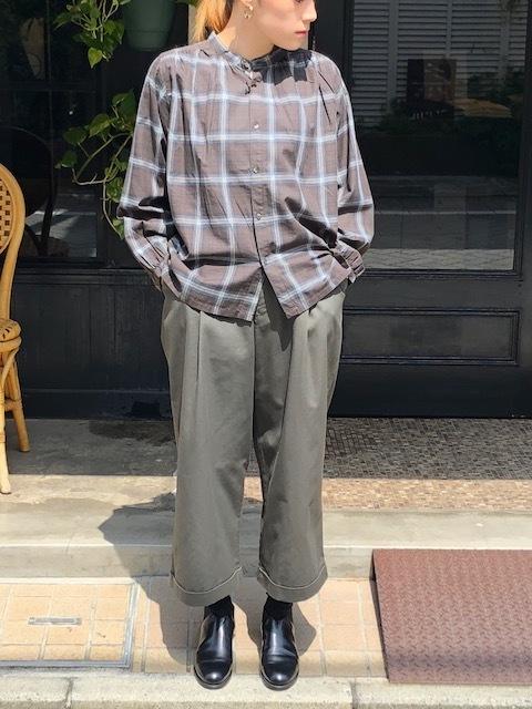 GRANDMA MAMA DAUGHTER  2way check GatherShirt&tuck frill shirt_a0222424_19591400.jpg