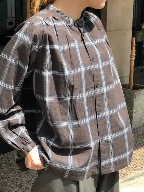 GRANDMA MAMA DAUGHTER  2way check GatherShirt&tuck frill shirt_a0222424_19592550.jpg