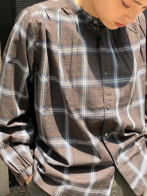 GRANDMA MAMA DAUGHTER  2way check GatherShirt&tuck frill shirt_a0222424_19593067.jpg