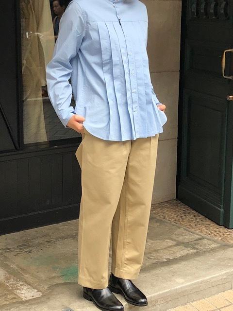 GRANDMA MAMA DAUGHTER  2way check GatherShirt&tuck frill shirt_a0222424_20003510.jpg