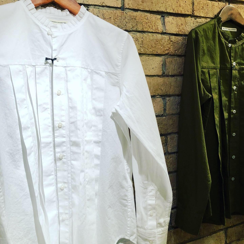 GRANDMA MAMA DAUGHTER  2way check GatherShirt&tuck frill shirt_a0222424_20414335.jpg