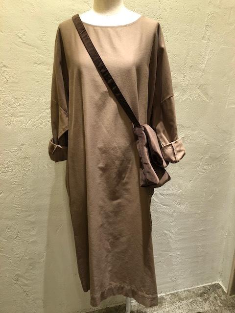 Le Glazik  loosefit Twill dress & Phlannel cottonvelvet Farmer BAG_a0222424_21070904.jpg