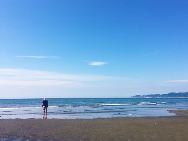 今年最初で最後じゃなかった、海!!! 入荷フランス、フレンチヴィンテージワークウエア モールスキンワークジャケット 黒とインクブルー_f0180307_15224580.jpg